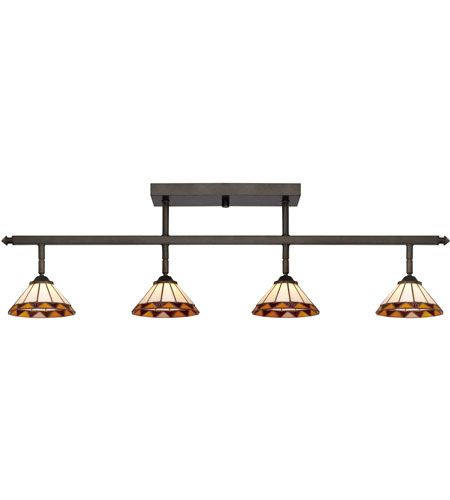 Quoizel Lighting Tiffany 4 Light Ceiling Track Lights In Imperial Bronze Tf1404ib Photo