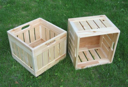 Charmant Wooden Milk Crate From A Canadian Woodworker.