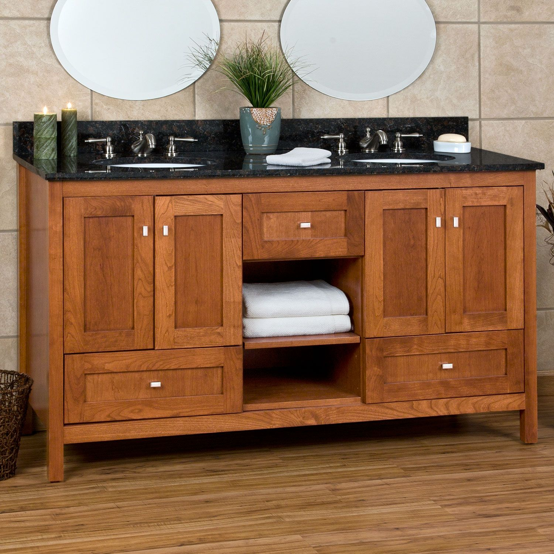 Mission 60 bathroom vanity mission and shaker vanities 60 alcott vanity with undermount basin for Mission style bathroom vanity