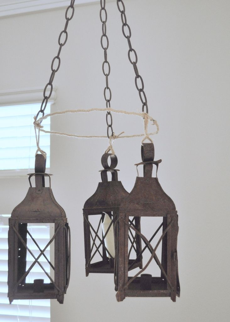 Chandeliers · antique lanterns - Faux Lantern Chandelier Antique Lanterns, Lantern Chandelier And
