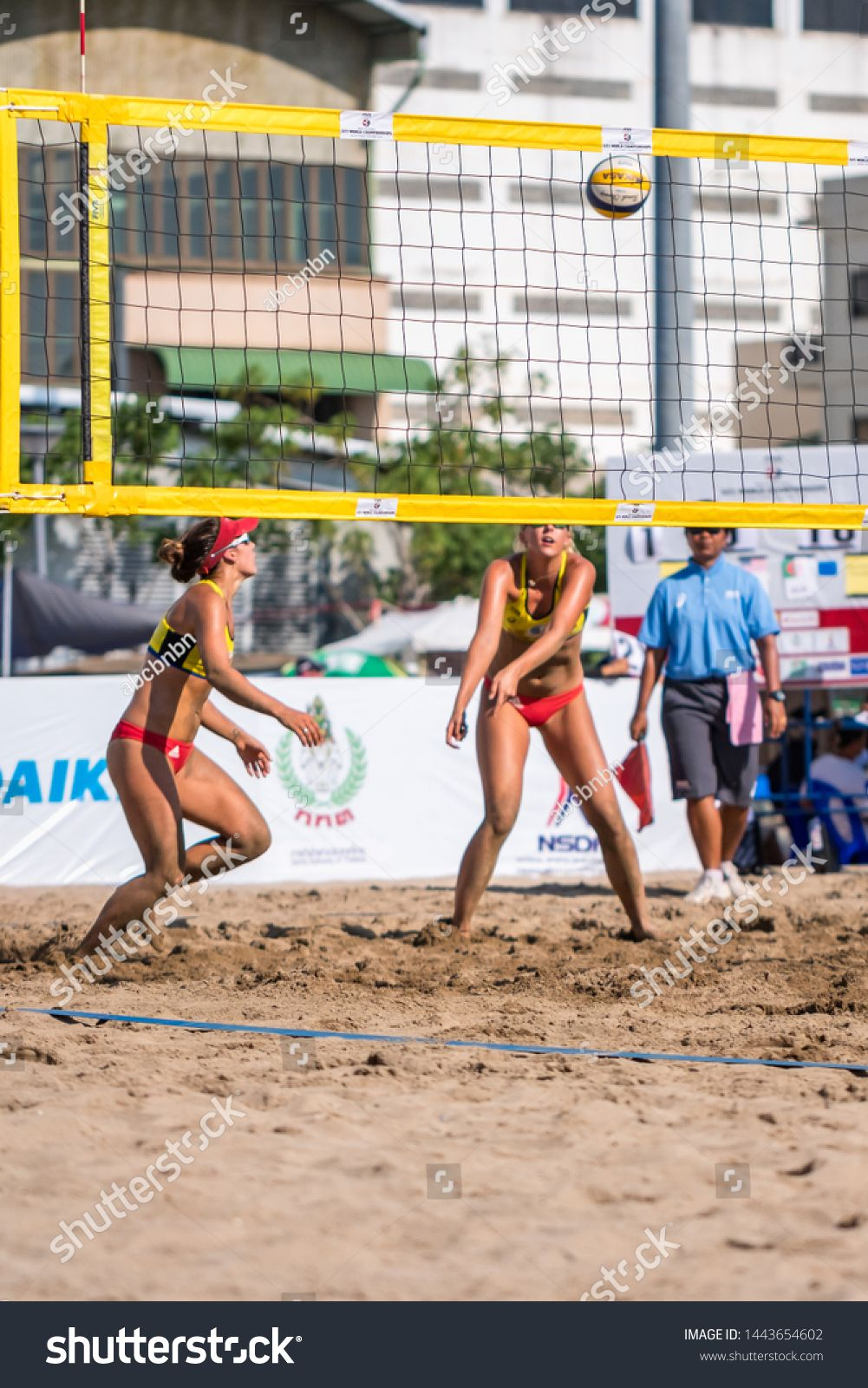 Udonthani Thailand June 21 2019 Beach Volleyball Players In Action Of U21 World Championships On June 21 20 Beach Volleyball Volleyball Players Thailand