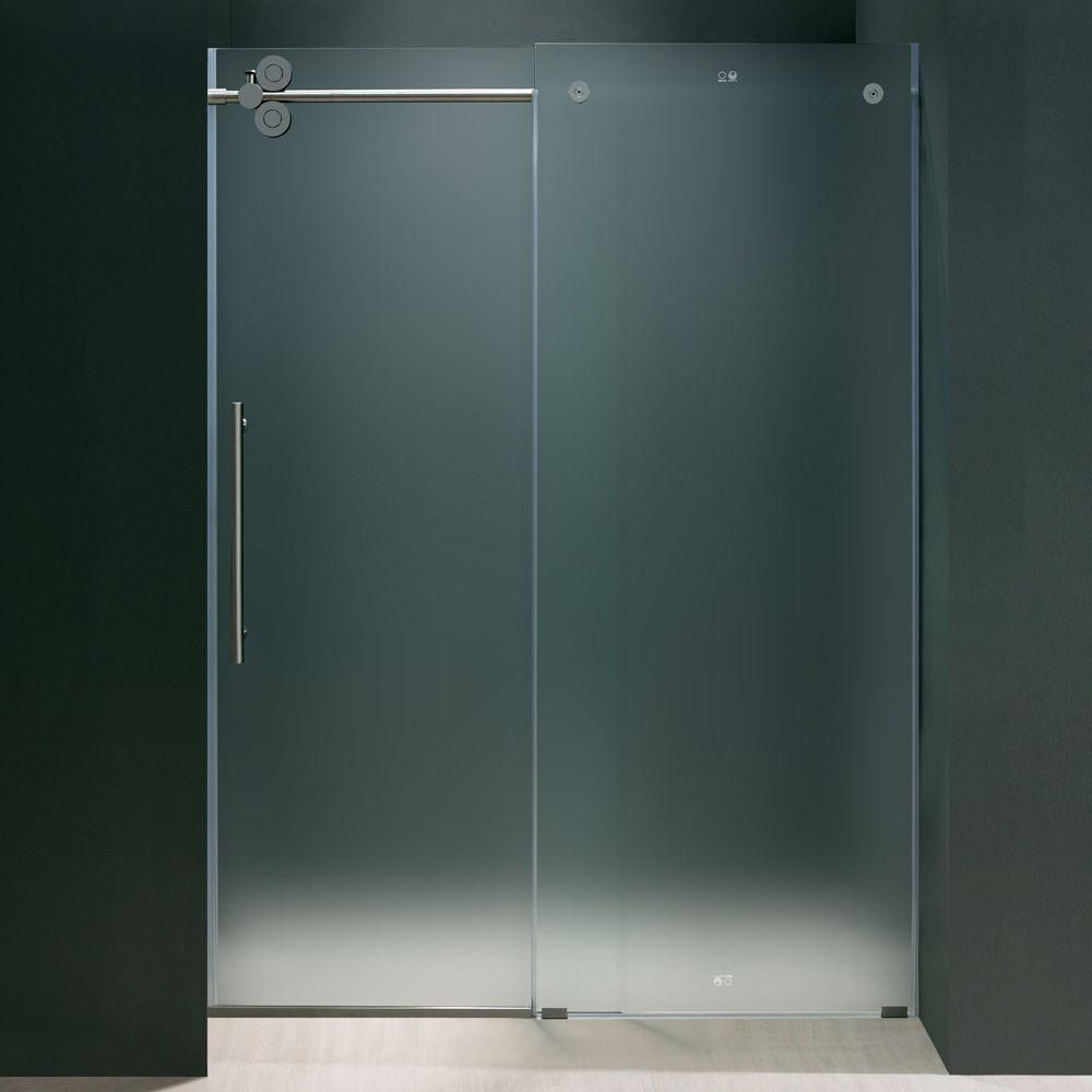 Vigo Elan 60 In X 74 In Frameless Sliding Shower Door In Chrome