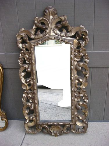 Vintage French Provincial Mirror Ornate Aged Gold Paint Frame Medium Ebay