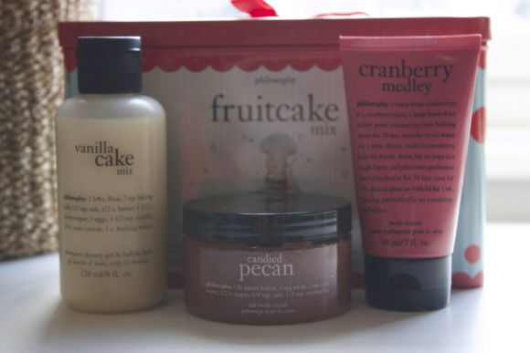Read a review on the products in Philosophy's fruitcake mix.