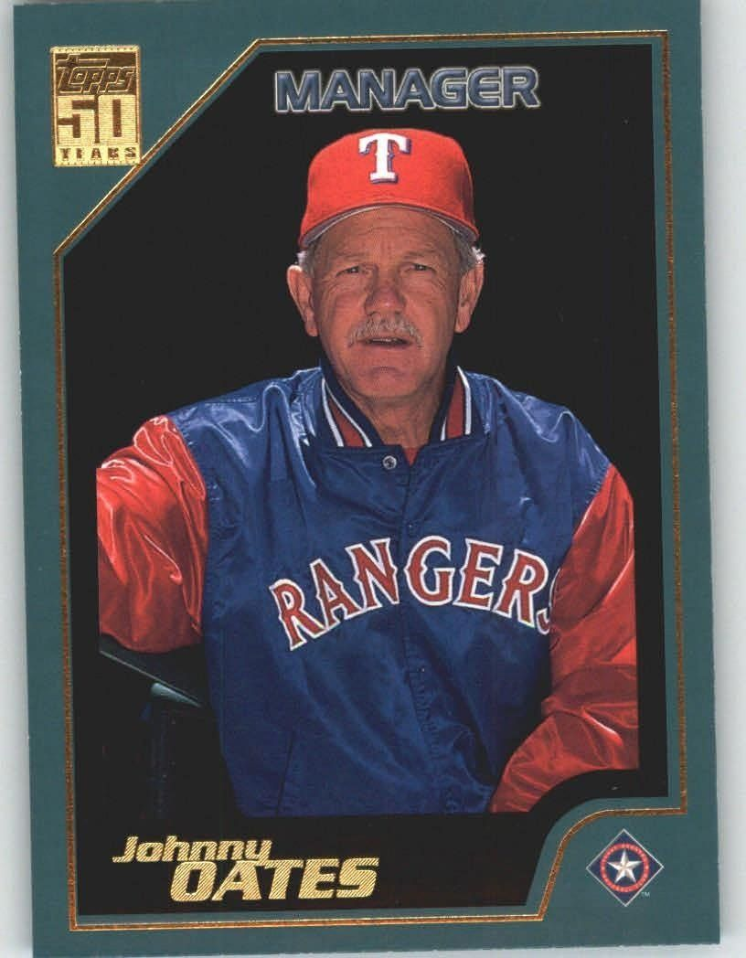 2001 Topps 343 Johnny Oates MG Texas Rangers (Manager