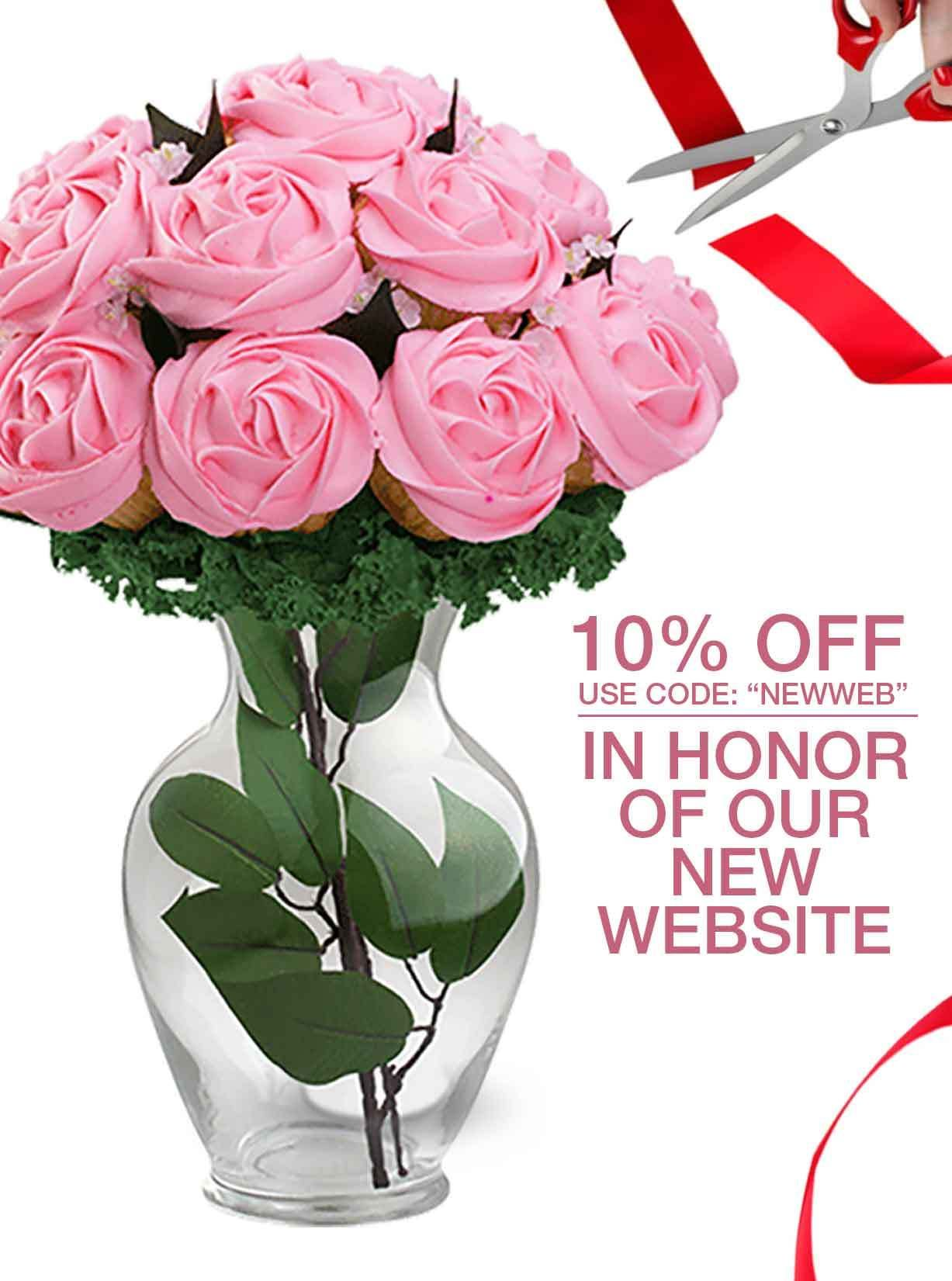 Flower cupcake bouquets for delivery cupcake bouquet flower cupcake bouquets for delivery izmirmasajfo Choice Image