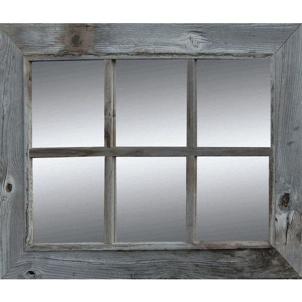 Rustic Mirror Window Pane Barnwood Mirror 6 Pane 180 Liked On Polyvore Featuring Home Home Decor Mirrors Rust Rustic Mirrors Barn Wood Mirror Barn Wood