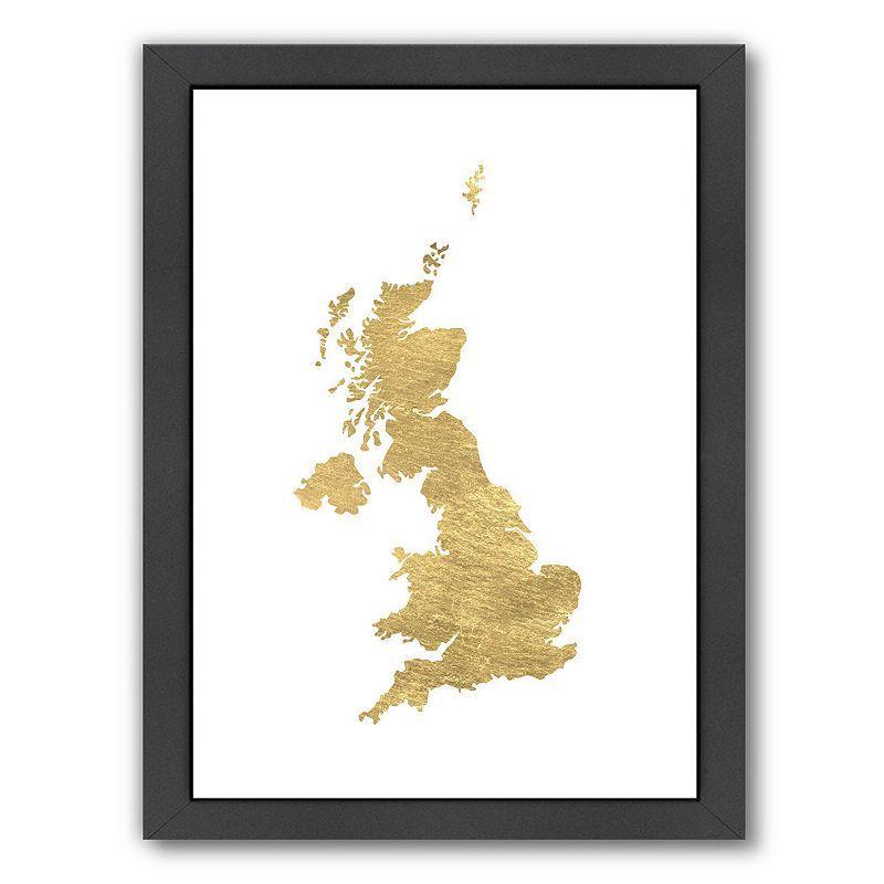 Americanflat United Kingdom Framed Wall Art, Multicolor