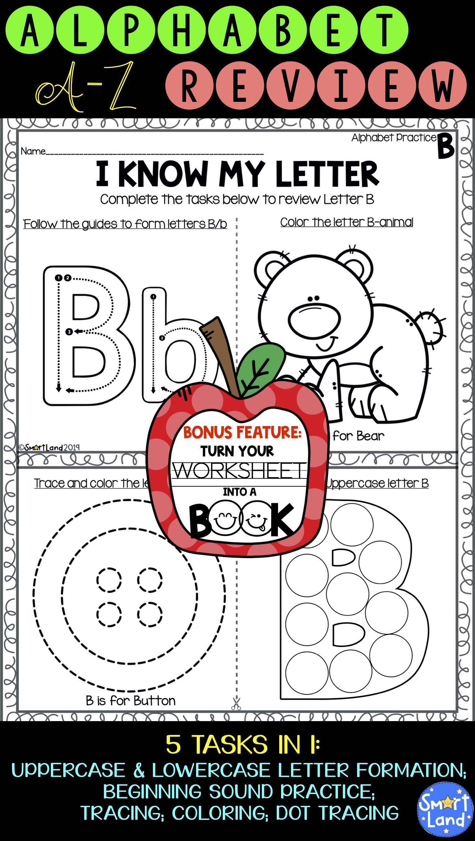 Alphabet Practice 2in1 Review Book