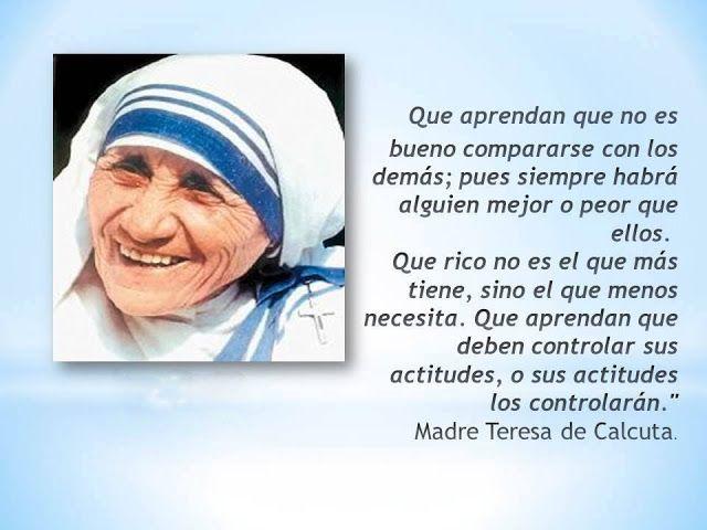 Frase De La Actitud Frases De La Madre Teresa Madre Teresa Frases De Teresa