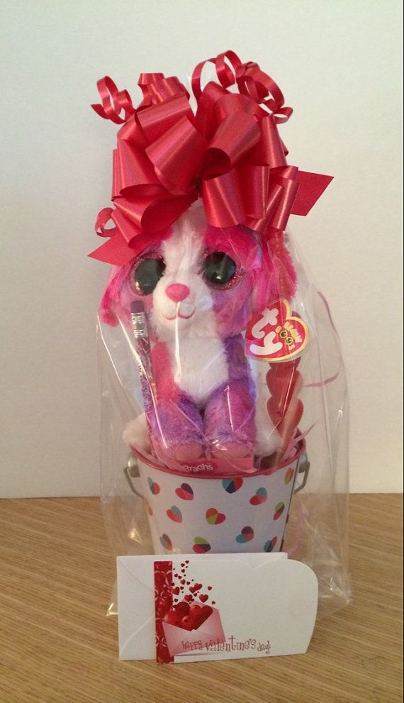 355856cef62 Valentines Day Gift Basket Ty Beanie Boo SHERBET by CACBaskets ...