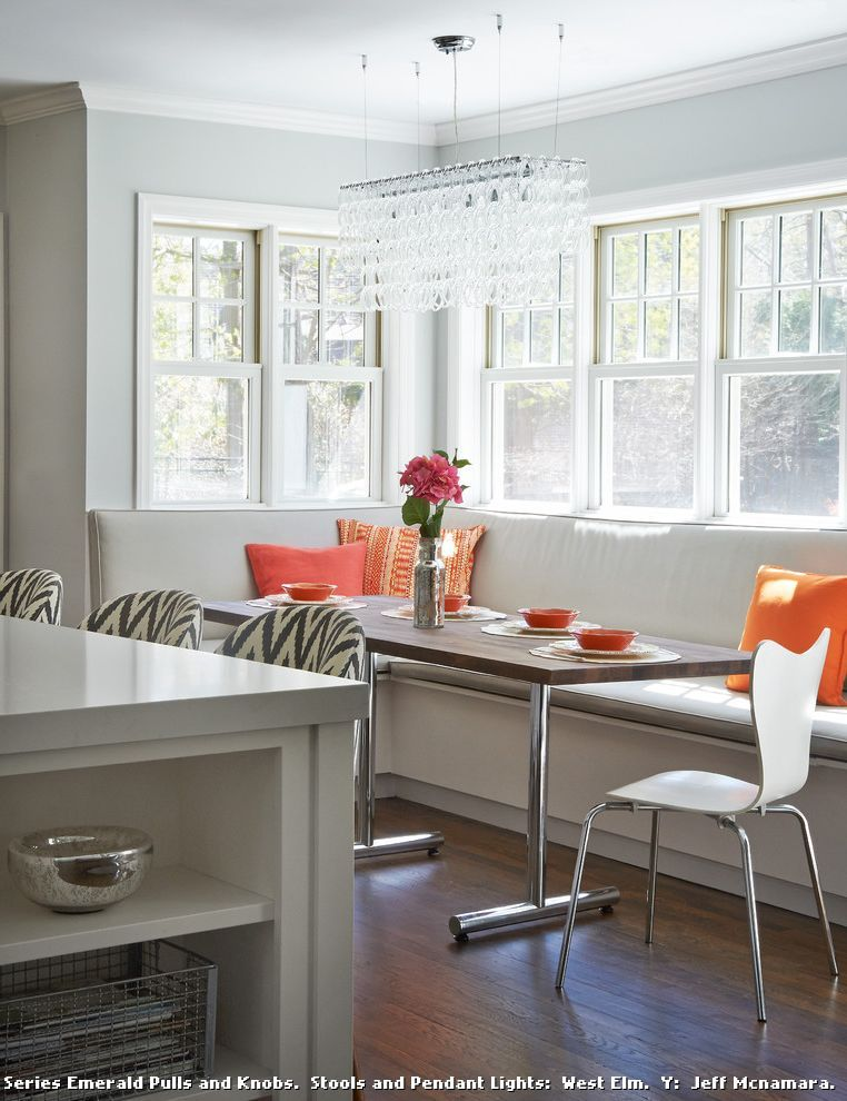 Modern Banquette Seating for Transitional Kitchen and Rye New York on