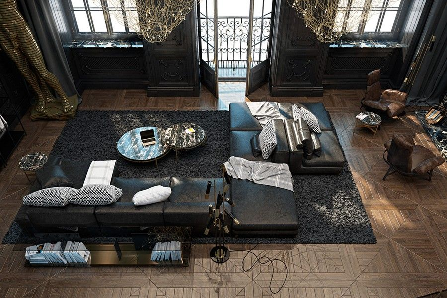 penthouse wohnung montreal designerin julie charbonneau, architecture modern apartment | design | architecture d'interieur, Design ideen