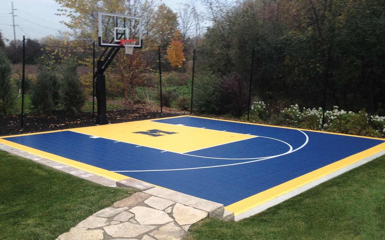 Beautiful Small Backyard Basketball Court Ideas With Images Basketball Court Backyard Backyard Basketball Backyard Sports Mini backyard basketball court