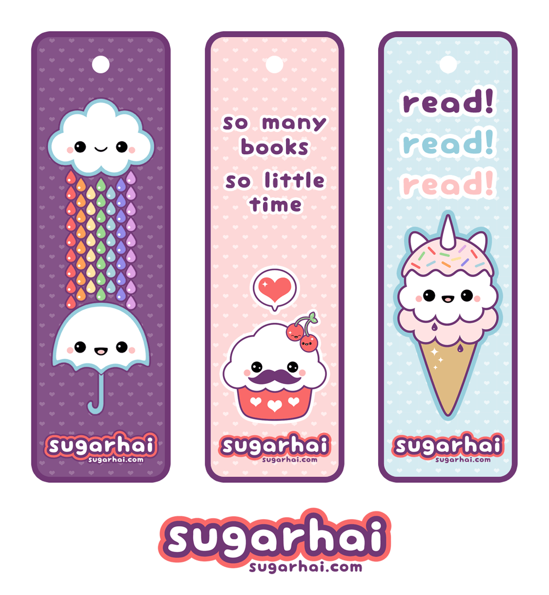 Cute Printable Bookmarks Kawaii Pinterest