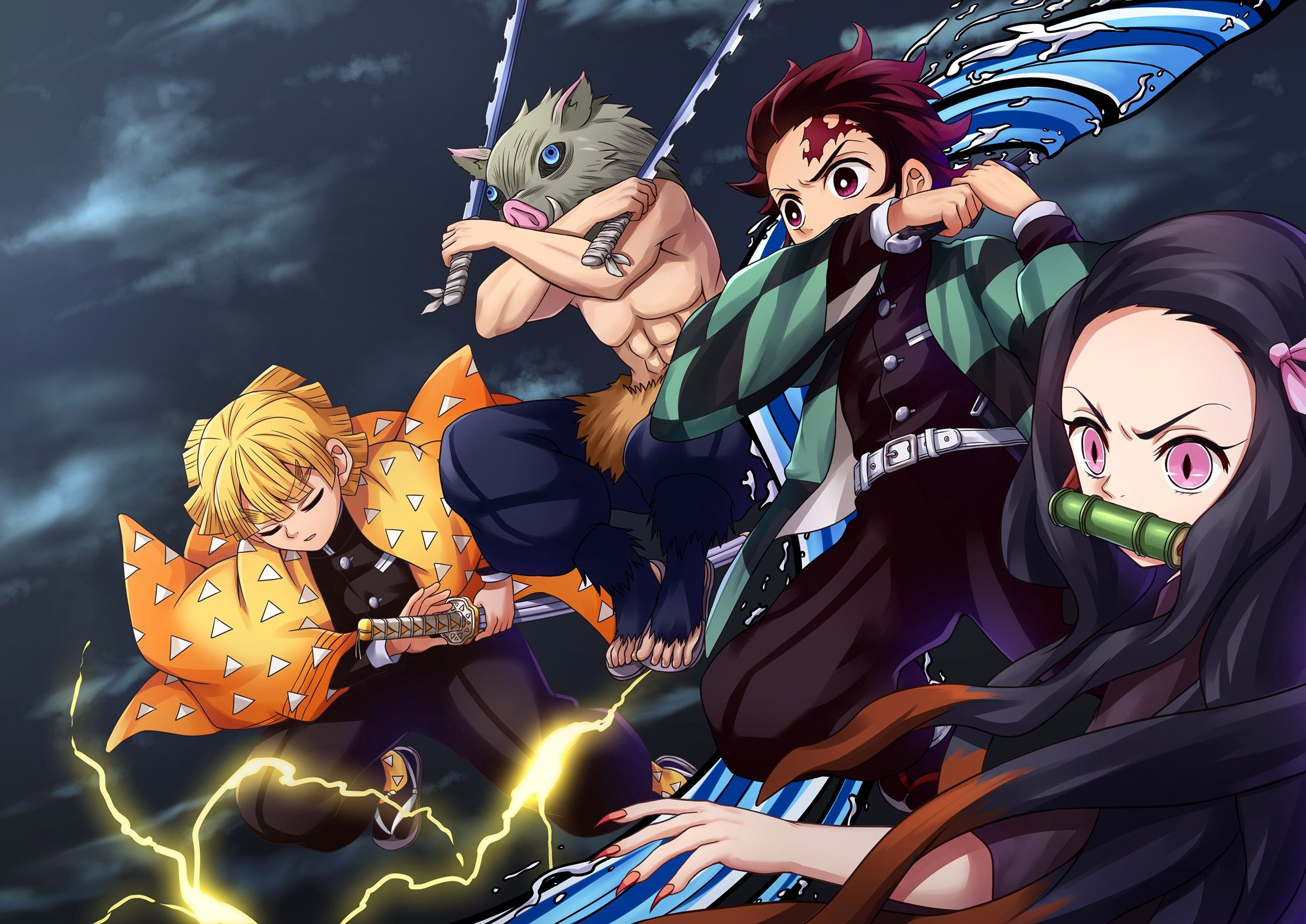 Fresh Demon Slayer Kimetsu No Yaiba Hd Wallpaper Characters Anime Demon Slayer Anime Anime