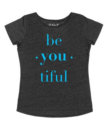 Look what I found on #zulily! Charcoal 'Beyoutiful' Crewneck Tee - Women #zulilyfinds