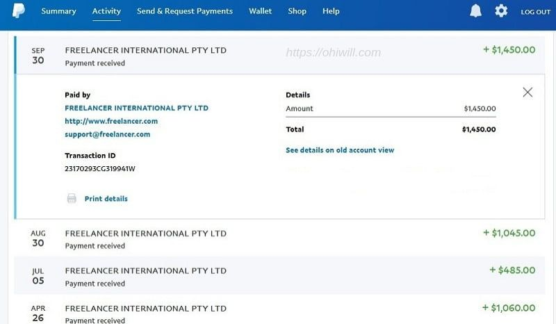 Paypal Payment Proof Part Time Job Part Time Jobs Summary Activities Job