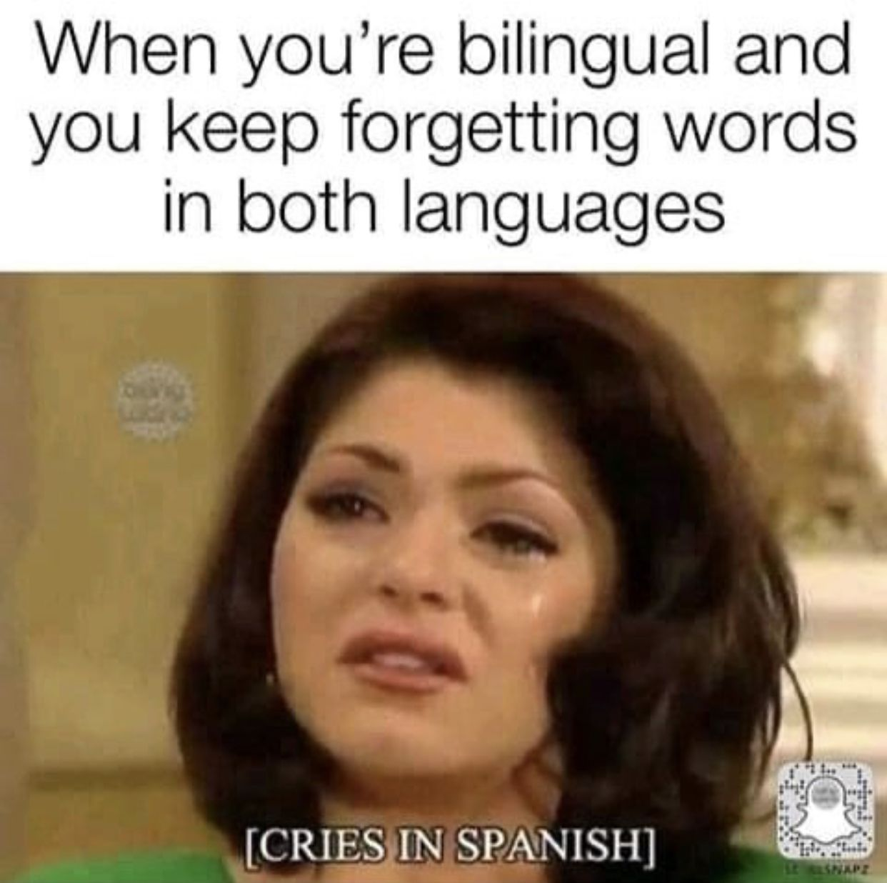 Happy Meme Monday The Struggle Of Knowing Two Languages Funny Spanish Memes Mexican Funny Memes Mexican Jokes
