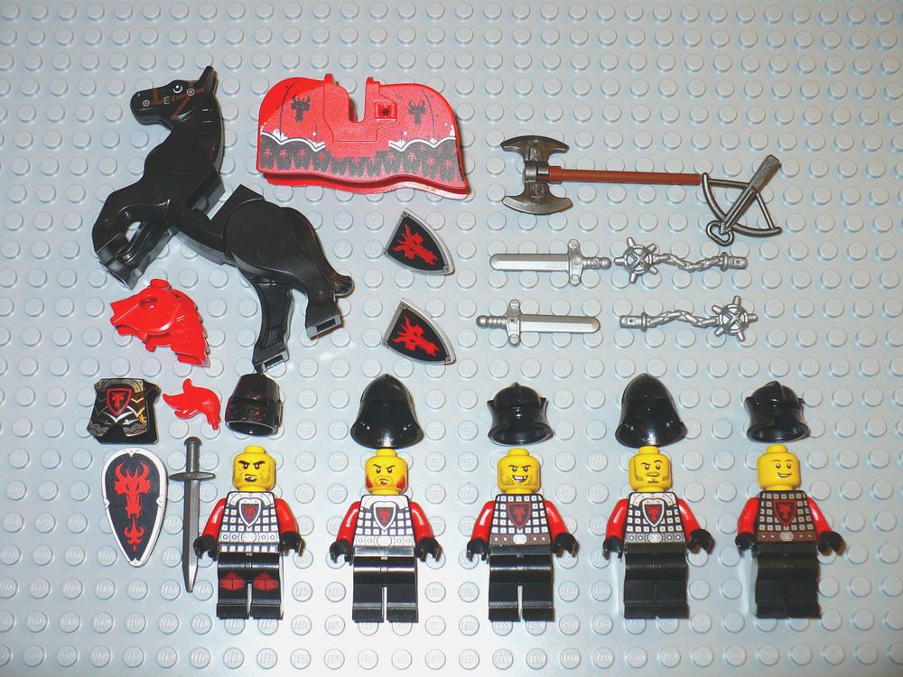 LEGO LOT OF 8 BLACK DRAGON WINGS 8 X 10 LARGE CASTLE PIECES