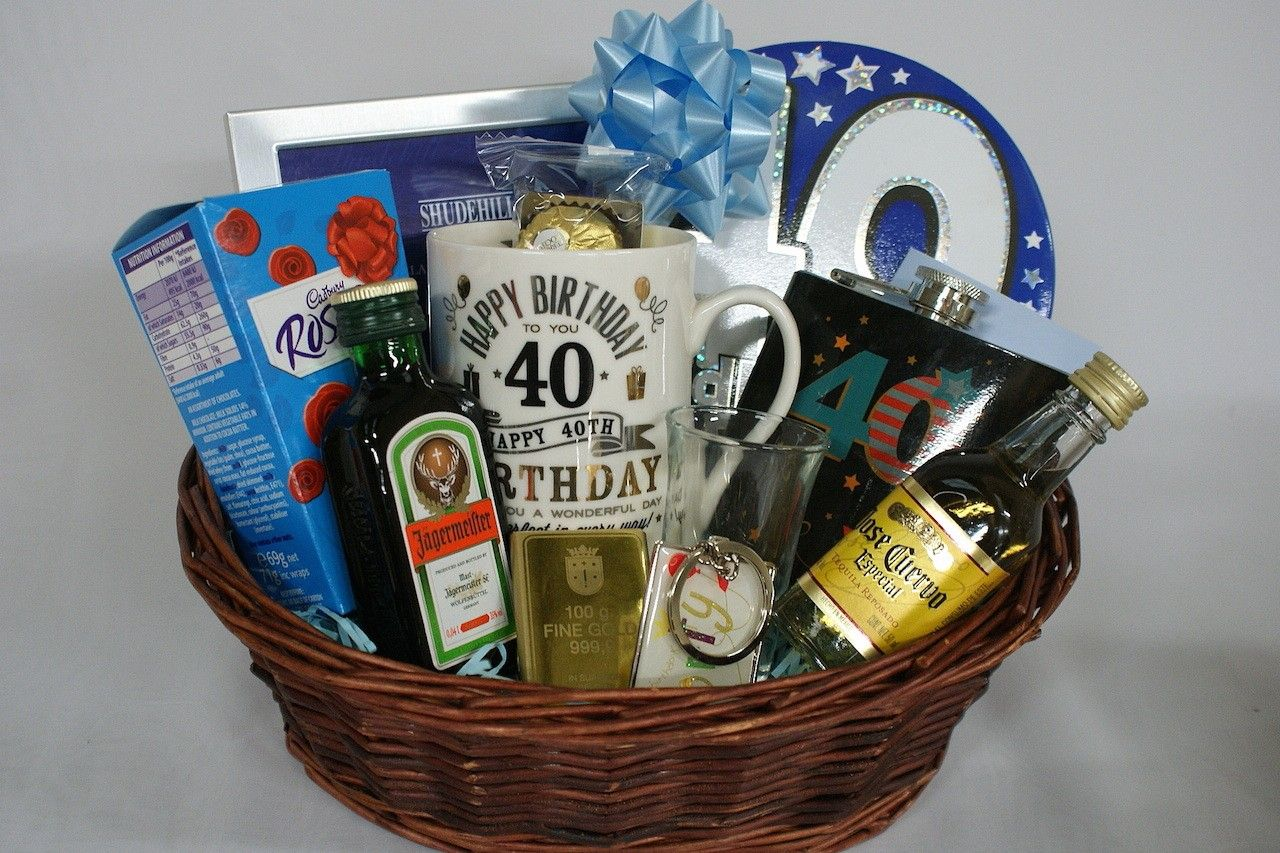 40th Birthday Gift Basket for Men Personalised Gift