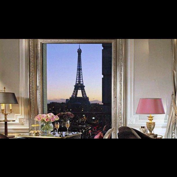 The Eiffel Suite at Hotel Plaza Athenee, Paris. (With images) Hotel plaza athenee paris, Plaza