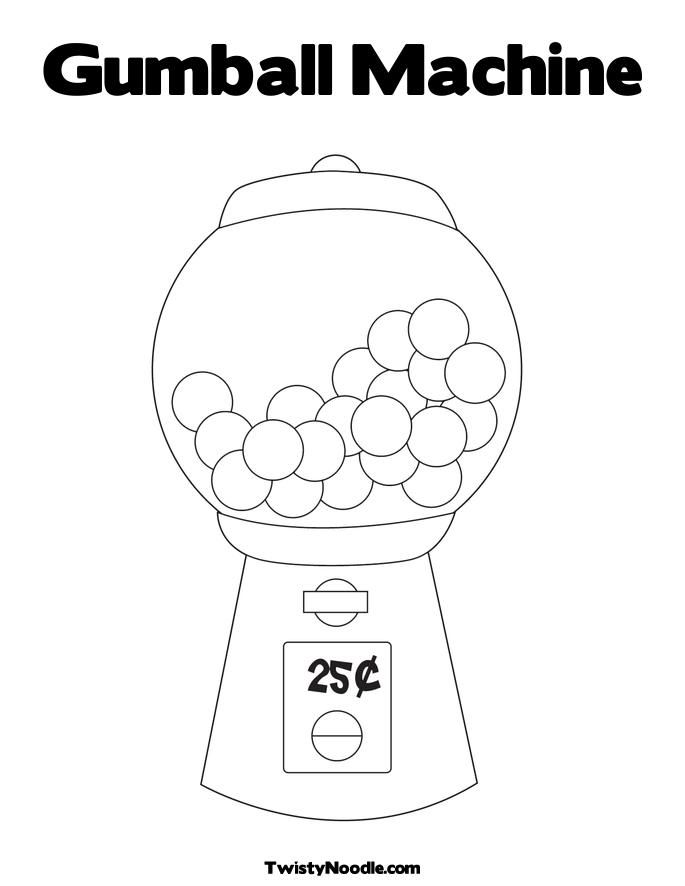 Better Gum Ball Machine Gumball Machine Coloring Pages