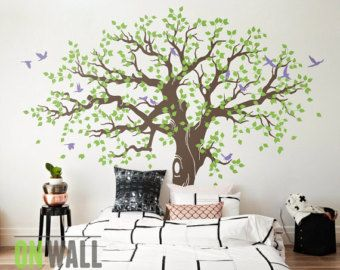 2259a8d768a5 Tree Wall Stickers Bring Stunning Beauty to Your Home Interior tree wall  stickers large family tree wall decal ... THBEGRK