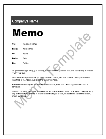 MemoTemplate  Wordstemplates    Template