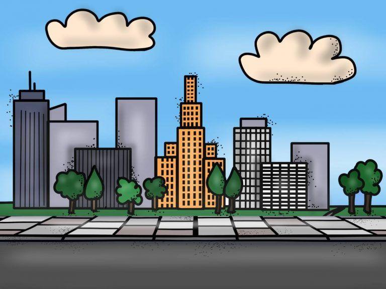 Maravillosos Disenos Y Actividades Para Trabajar El Tema El Campo Y La Ciudad Educacion Primaria Actividades Actividades Educativas Dibujo De Paisaje Urbano