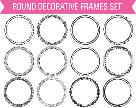 Round Digital Frames, Circle Digital Frame, Frame Clipart, Circle ...