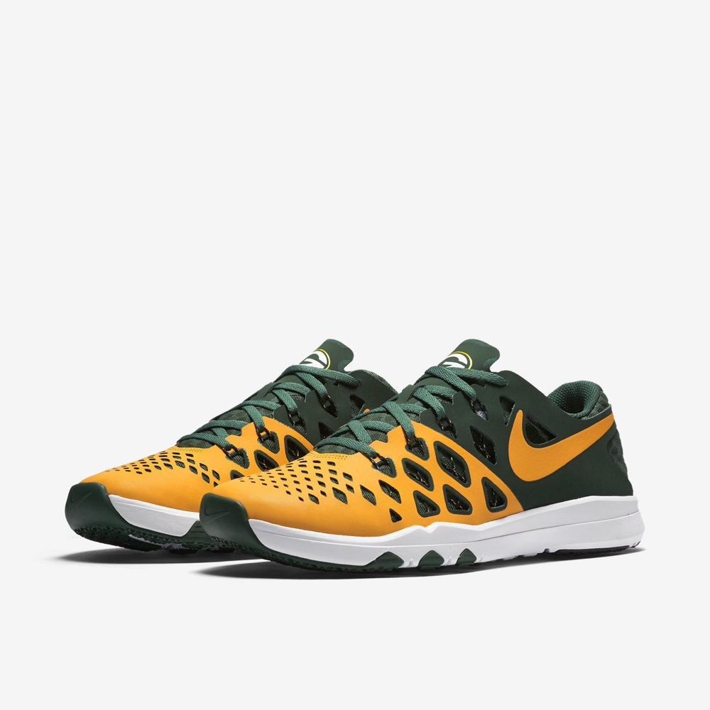 New Nike Train Speed 4 Amp Nfl Shoe 848587 706 Many Sizes Green Bay Packers Nfl Shoes Nike Mens Training Shoes