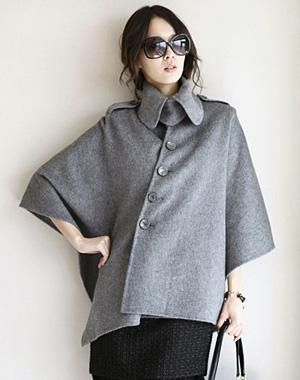 Cape bats Korean Barret coat