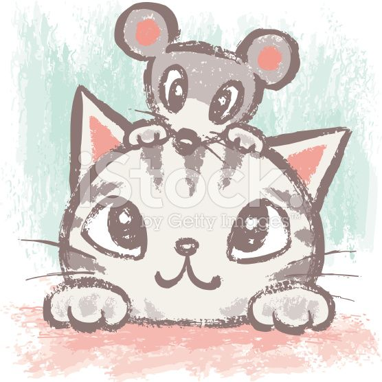 American Shorthair and rat – banque d'illustrations vectorielles libre de droits