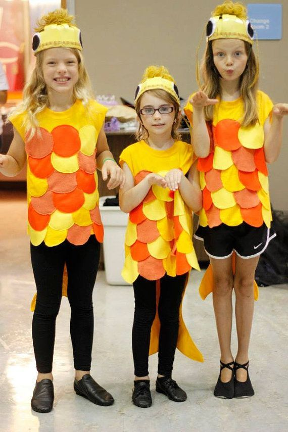 Easy fish costume gold fish costume by enduredesigns for Kids fish costume
