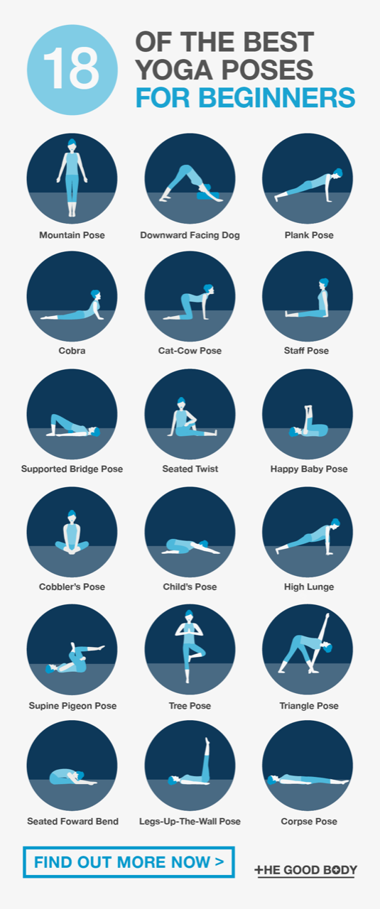 #yoga The Best Yoga Poses for Beginners: 18 Simple Asanas to Try