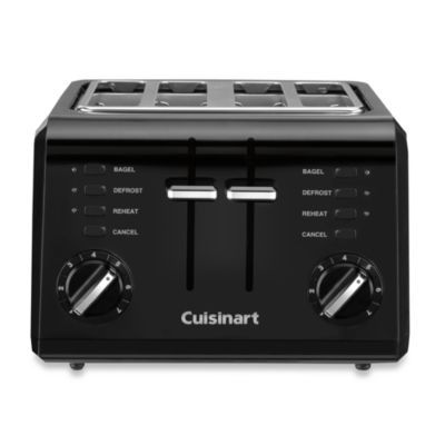 Cuisinart Black Compact Cool Touch 4 Slice Toaster