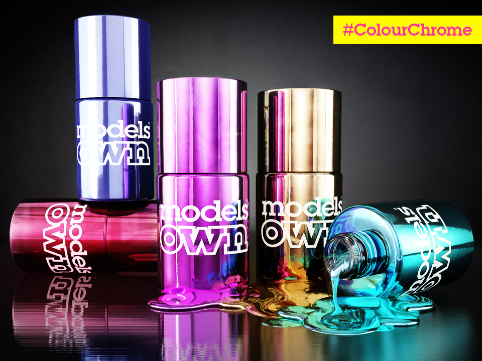 Models Own on Twitter in 2020 Color chrome, Chrome nail