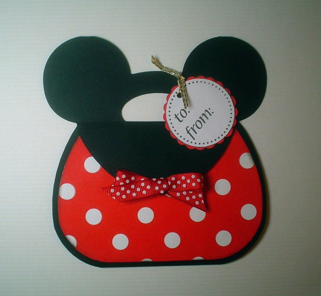 PRH08 Disney Magic Minnie Gift Card Holder Template SVG