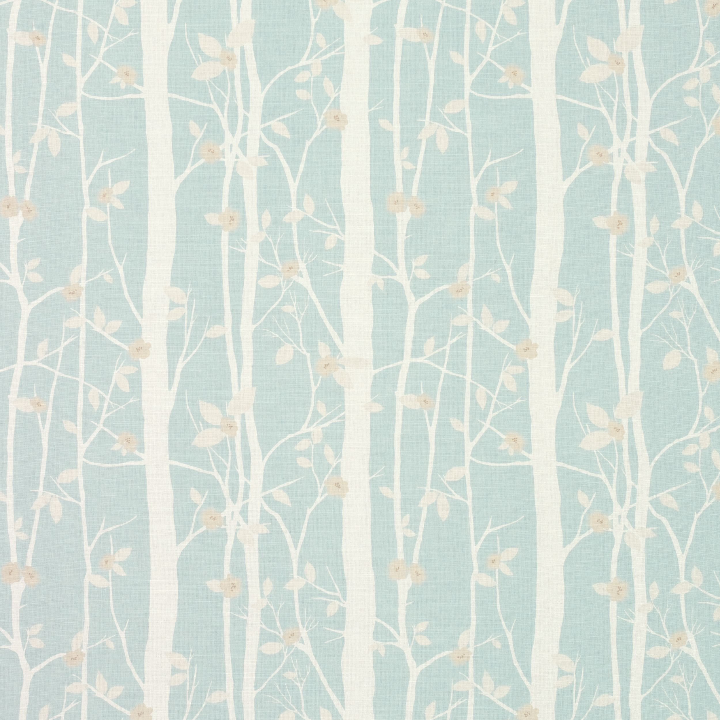 Laura Ashley Fabric Cottonwood Duck Egg Floral Cotton Our