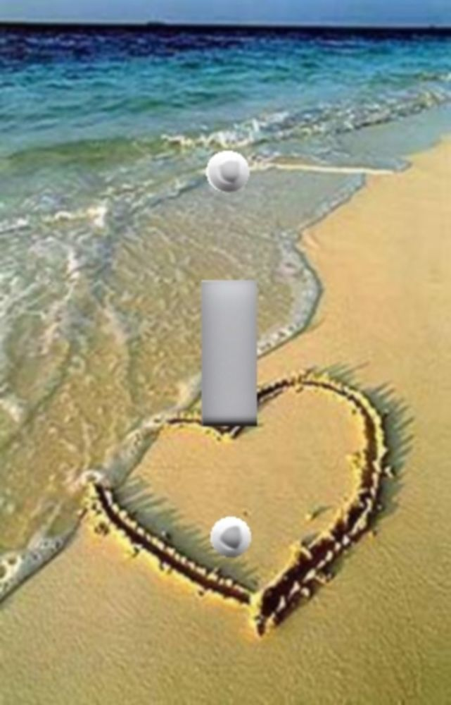 Light Switch Plate & Outlet Covers BEACH DECOR - LOVE HEART IN THE SAND OCEAN…