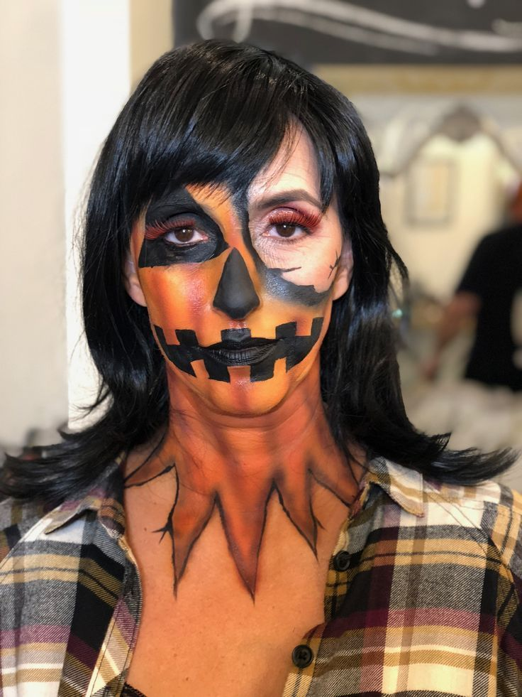 jackie o' lantern 🎃 halloween makeup by goldplaited