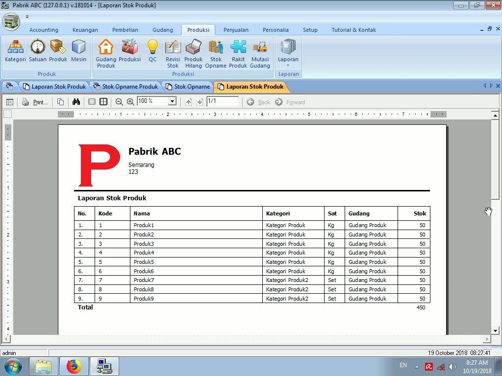 Tutorial Stok Opname Produk Pada Software Pabrik Gratis Gratis Abc Bahan Baku
