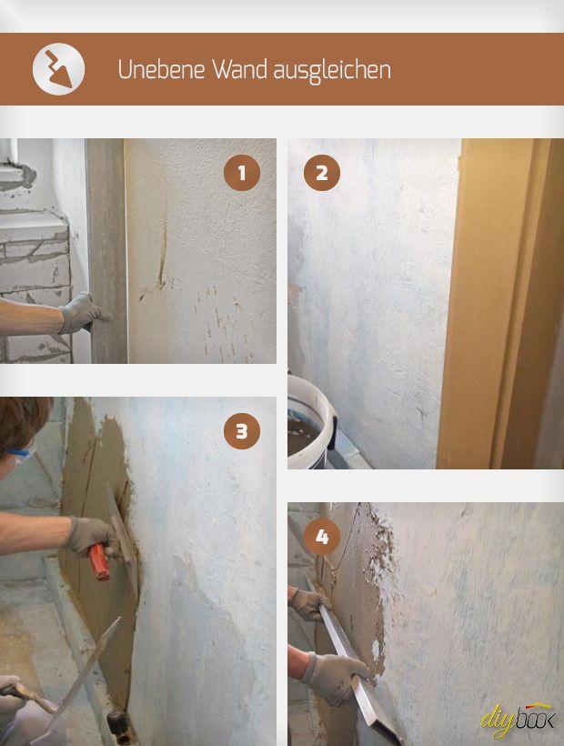 Unebene Wand ausgleichen Helpful hints Haus renovieren, Wand
