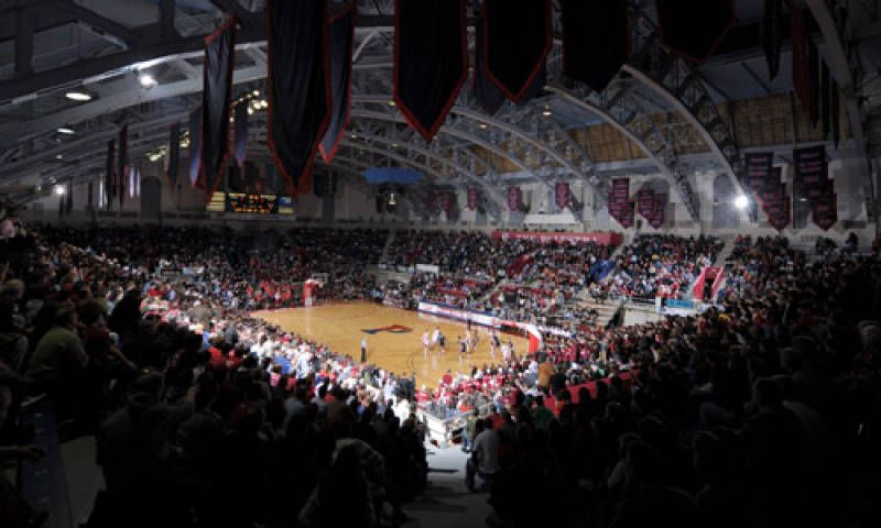 Game at the Palestra in Philadelphia. Ideally it would be