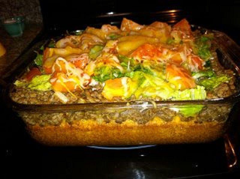 recipe: mexican cornbread casserole recipe ground beef [19]