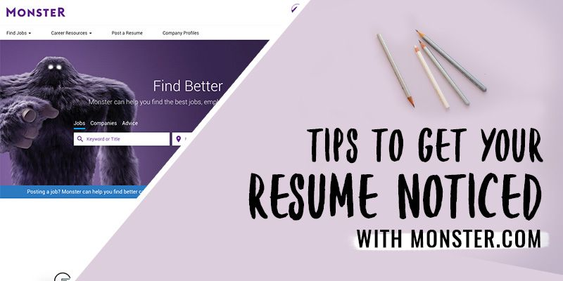 Monster Resume Tips How To Get Your Resume Noticed With Monster  Internship And Career .