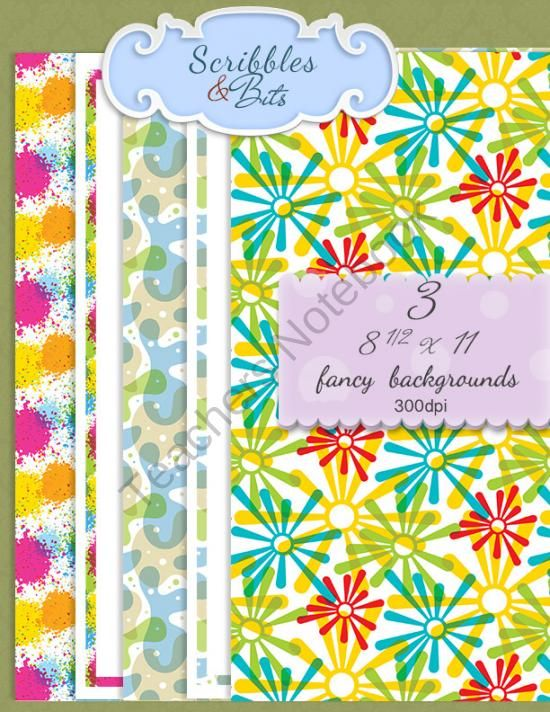 Beautiful Patterned Backgrounds w/ Matching Frames from Scribbles ...
