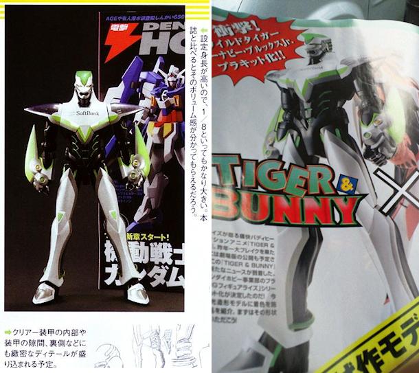 Bandai lanzará maquetas de plástico de Tiger & Bunny