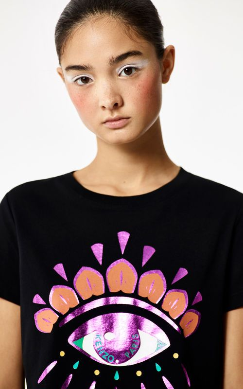 1c8e1f850cea BLACK 'Holiday Capsule Collection' Eye T-shirt for women KENZO ...
